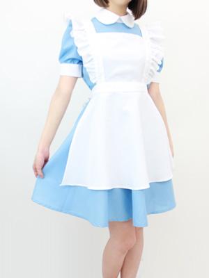 水色のメイド服